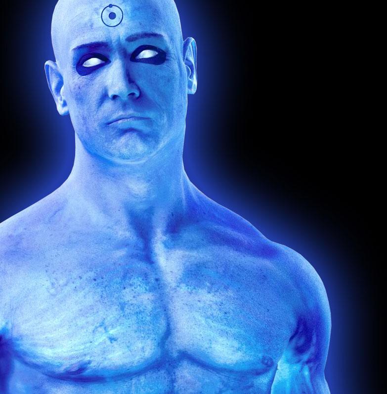 правой картинки про голубых людей сделан