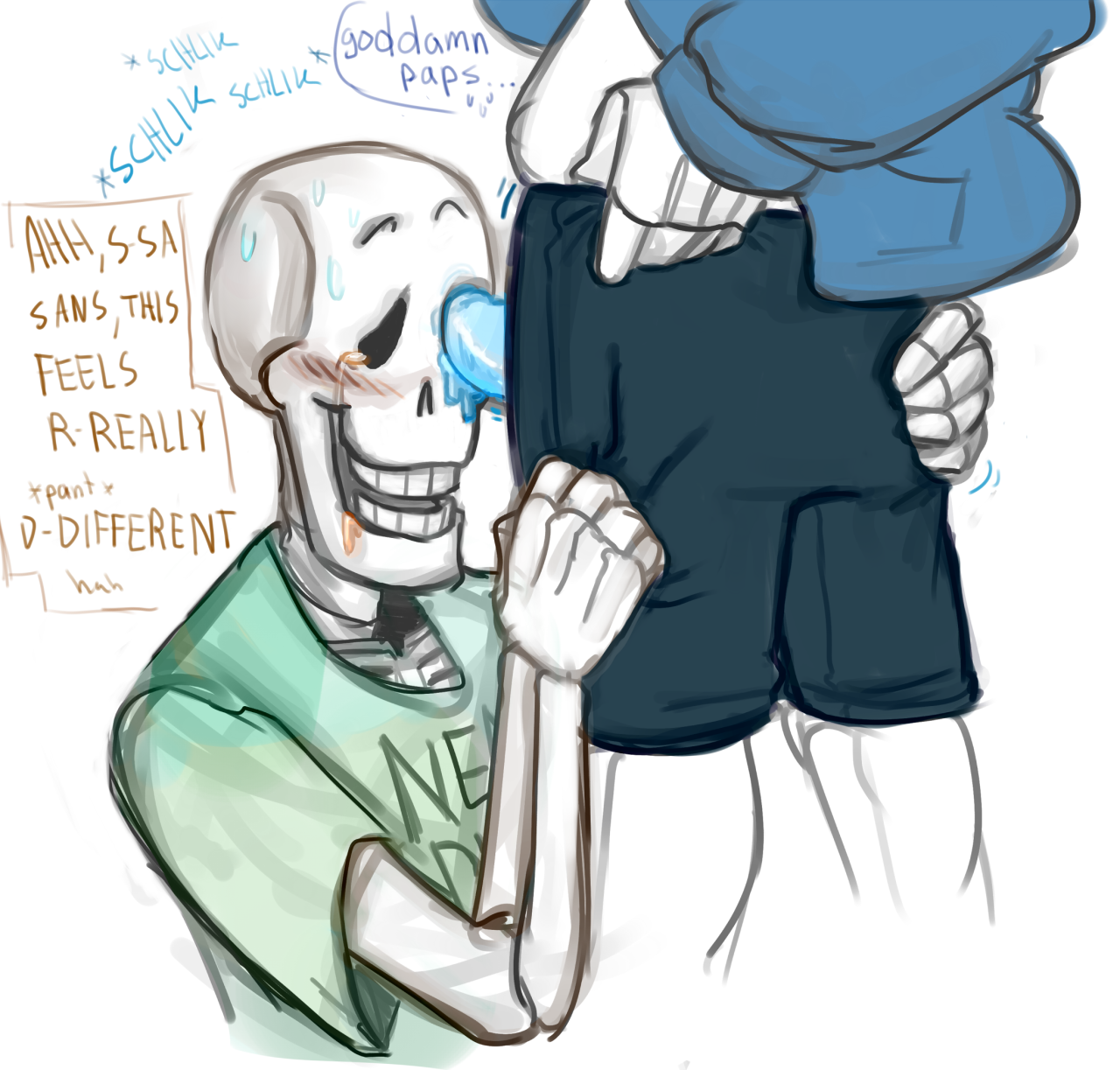 Undertale papyrus and sans porn